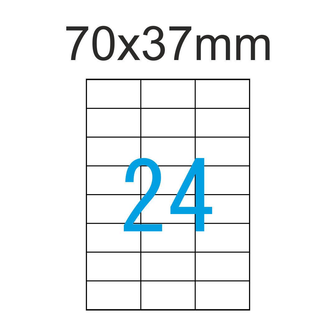 Weiße Luma Etiketten 70x37 Mm 3x8 24 Aufkleber Pro A4 Klebeetiketten