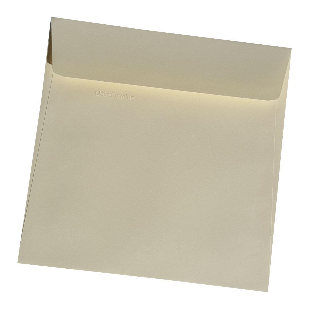quadratische briefumschl ge clairefontaine elfenbein 165x165 mm. Black Bedroom Furniture Sets. Home Design Ideas