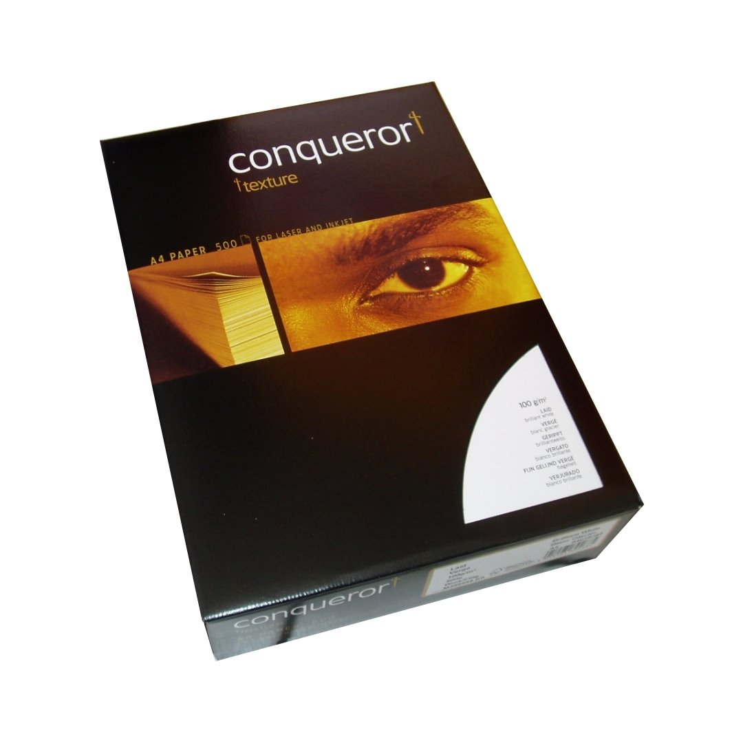 conqueror texture brilliantweiss din a4 papier 100g. Black Bedroom Furniture Sets. Home Design Ideas