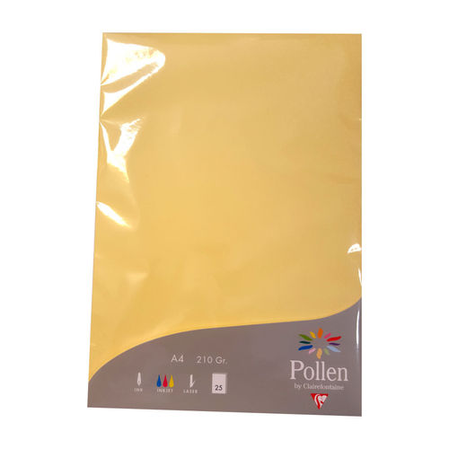 DIN A4 Chamois Karton 210g creme gelb Pollen by Clairefontaine