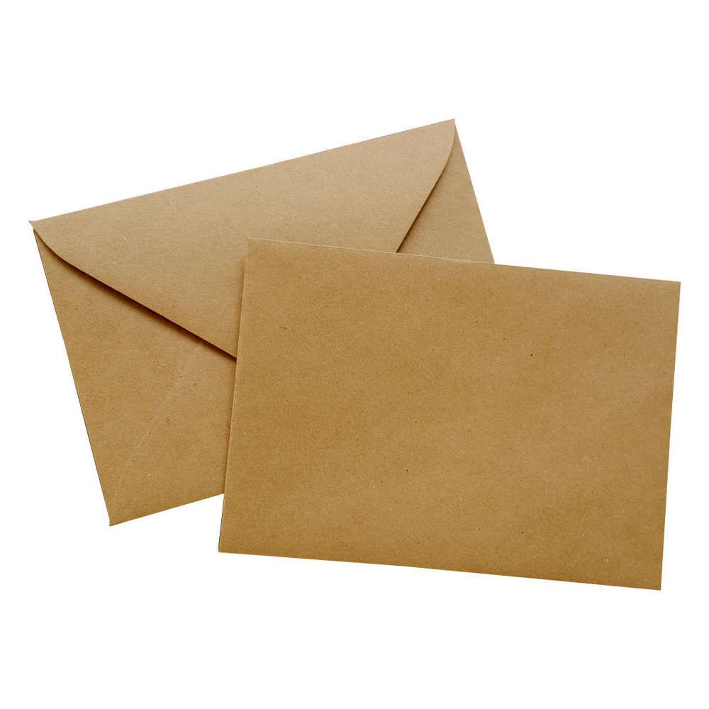 Kraftpapier Briefumschläge C6 Nassklebend Braune Kraft Umschläge