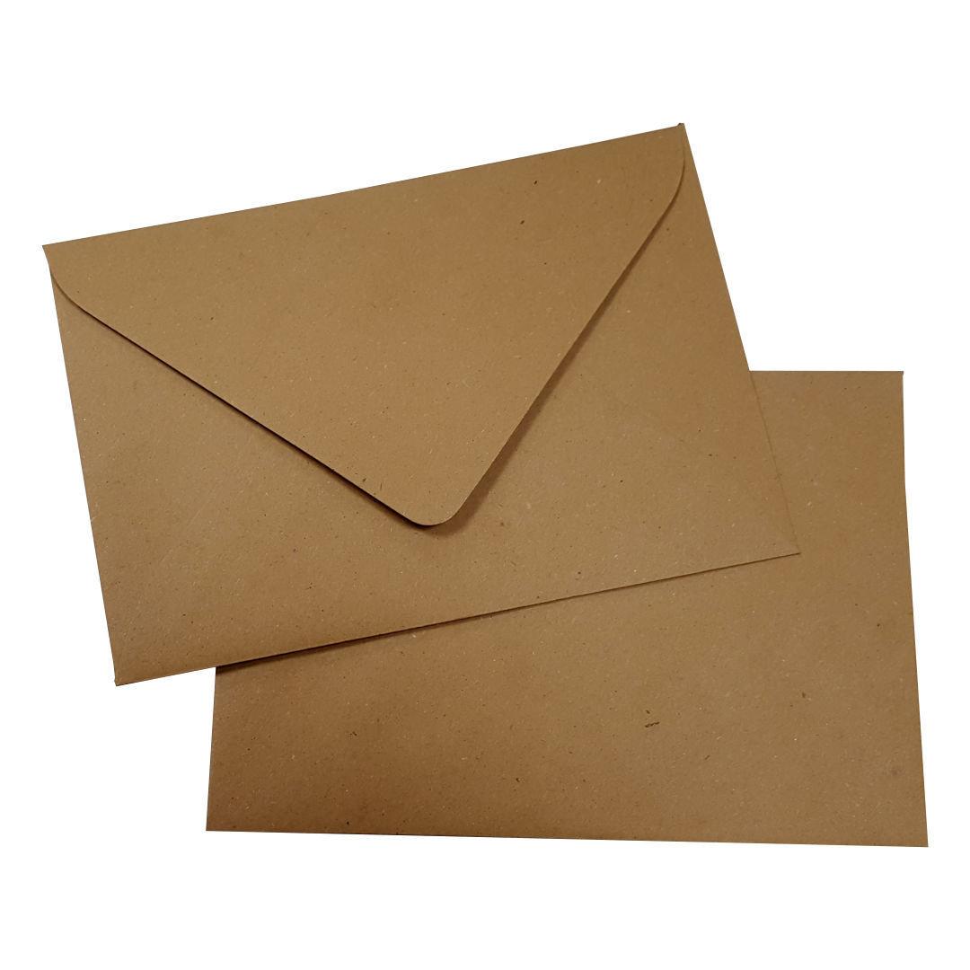 Kraftpapier Briefumschläge B6 Nassklebend Braune Kraft Umschläge