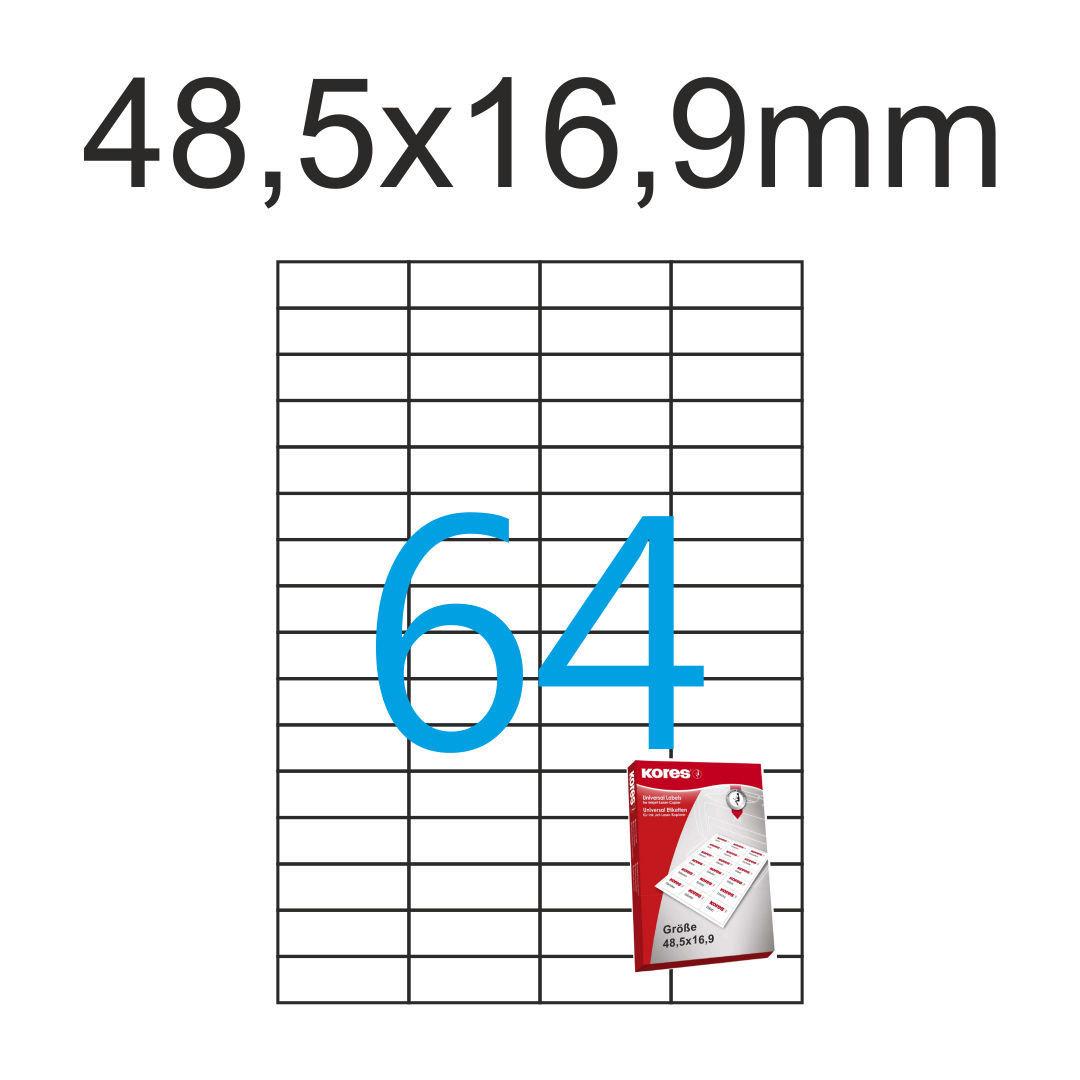 3200 ETIKETTEN 48,3 x 16,9 mm 50 Blatt weiß permanent Laser Inkjet Kopierer