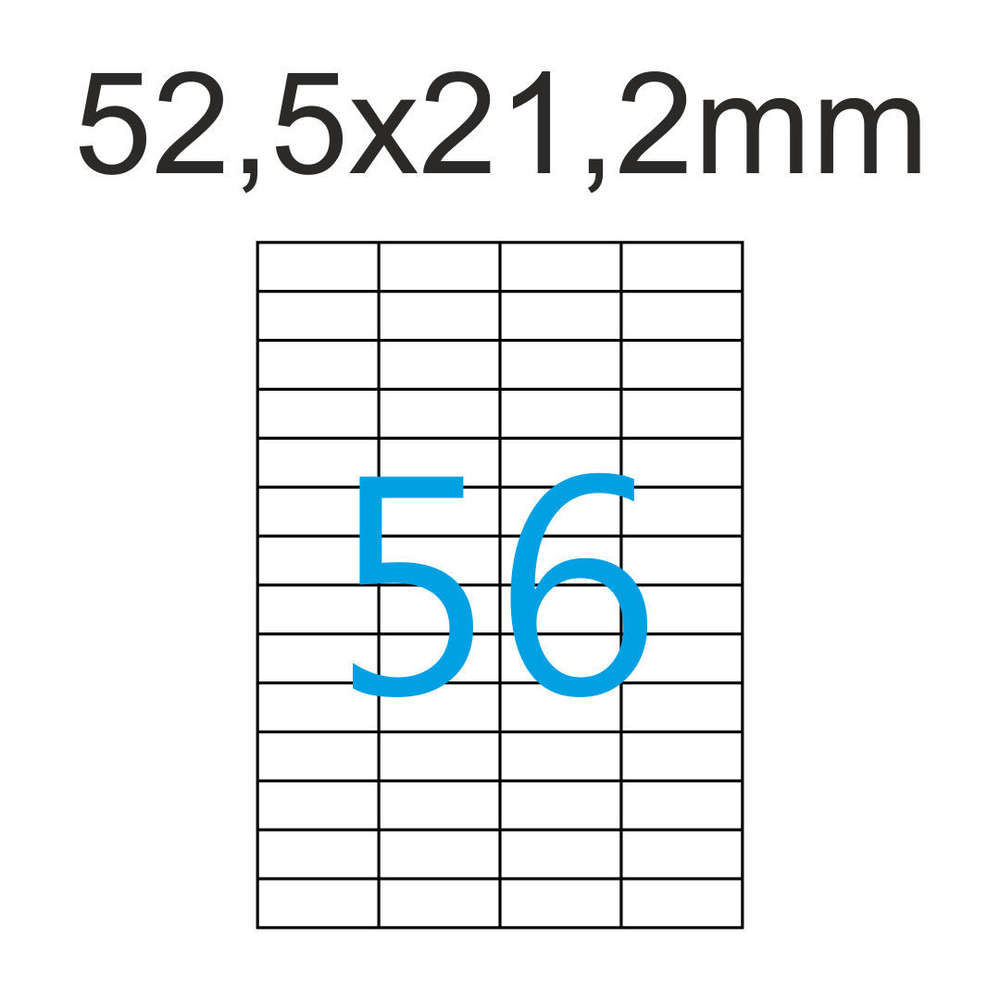 52,5x21,2 560 Etiketten Größe 10 Blatt DIN A4