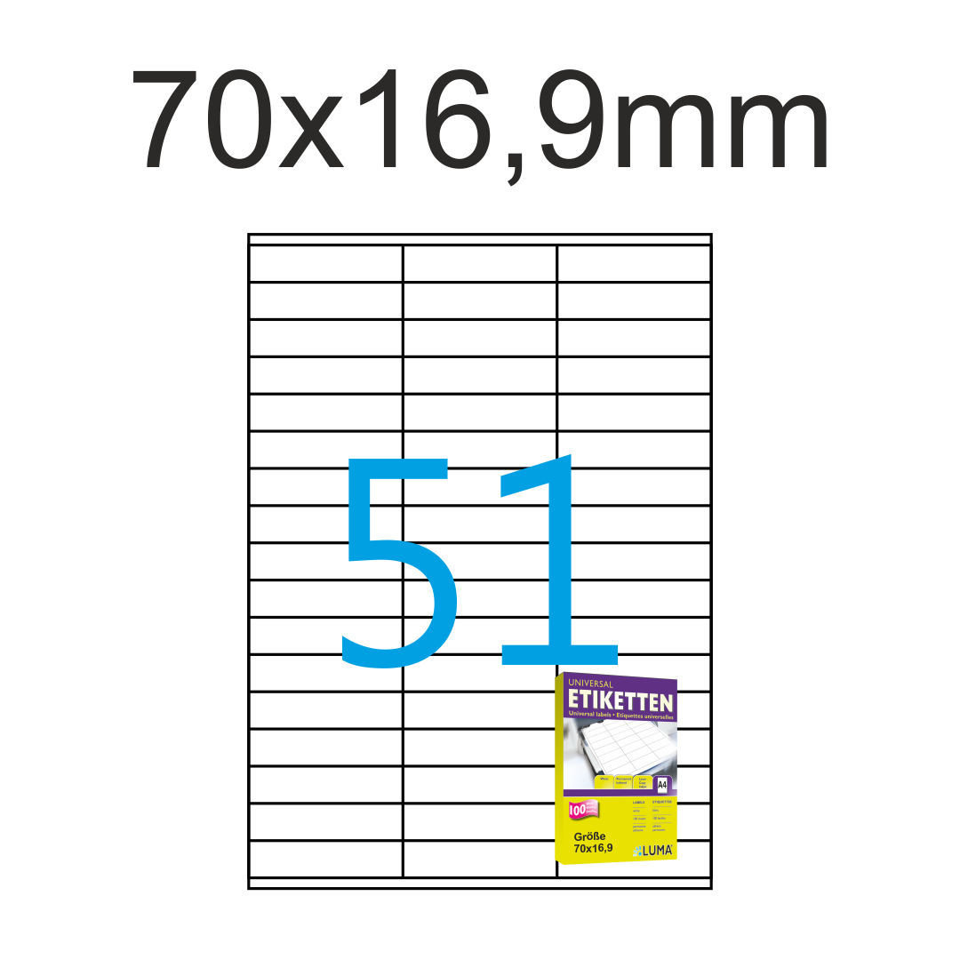 2400 Etiketten 97x42,3 mm Luma Aufkleber weiß Format 97x42 200 Blatt A4
