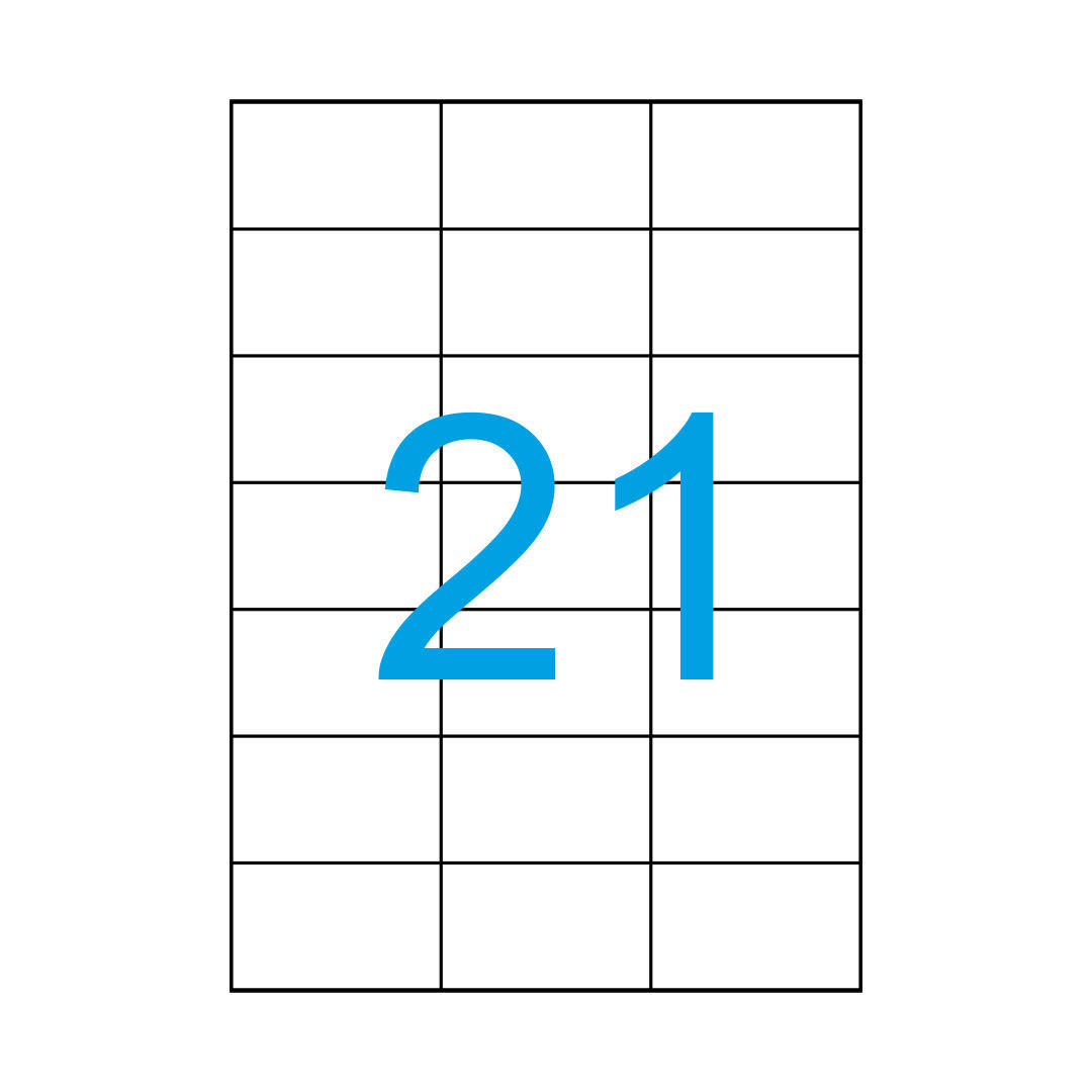 Etiketten 70x42,3 mm 25 Blatt A4 525 Aufkleber Weiß 70x42 Luma Vielzweck Label