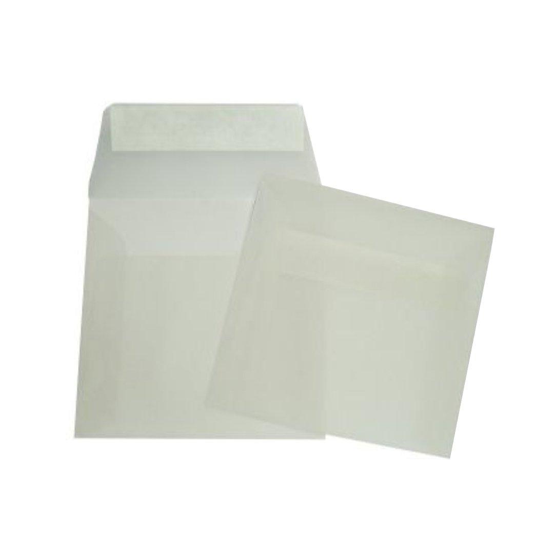 160x160mm quadratische transparent briefumschl ge in wei. Black Bedroom Furniture Sets. Home Design Ideas