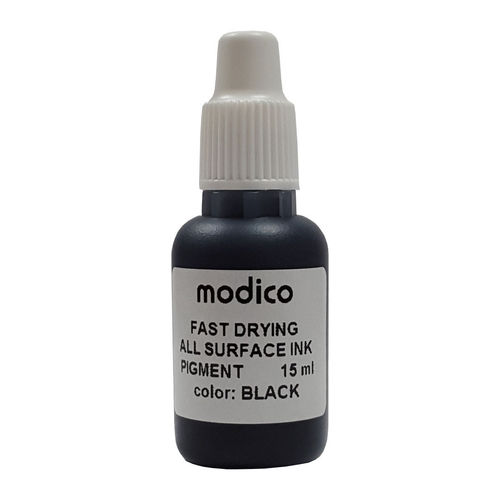 Modico 15ml AS Stempeltinte Schwarz schnelltrocknend All Surface