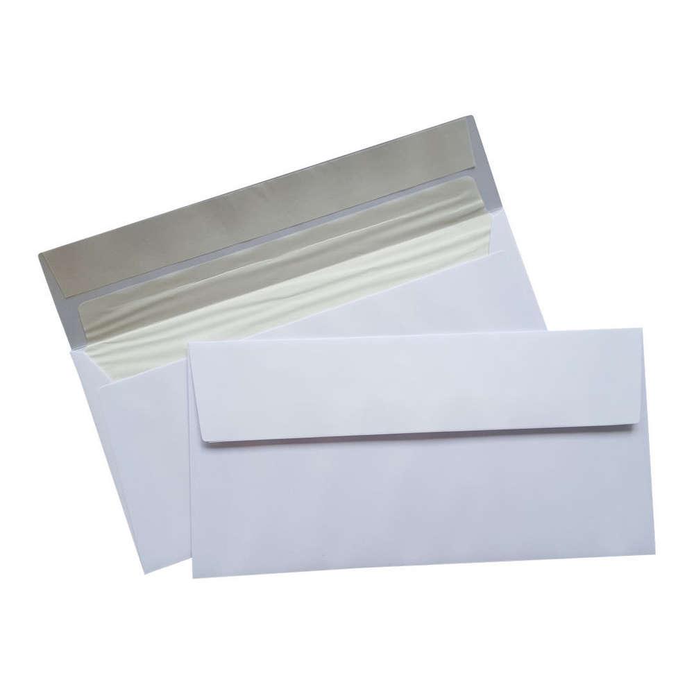 Premium Briefumschlag Weiss Din Lang Mit Seidenfutter Haftklebend